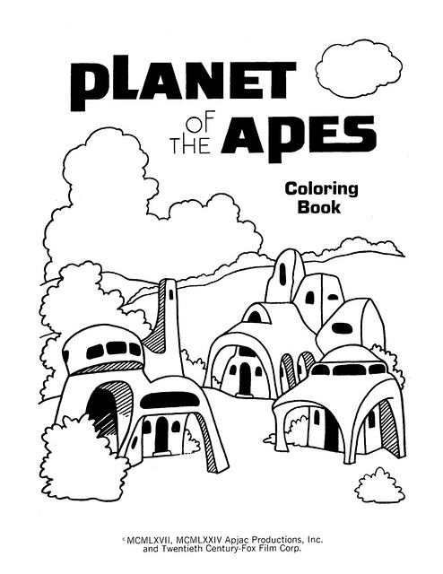 Planet of the Apes Coloring Book 0200002