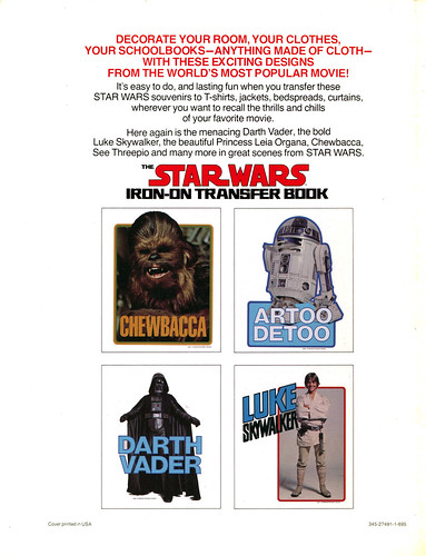 Star Wars Iron-On Transfer Book 036