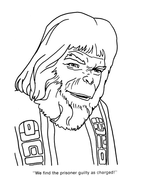 Planet of the Apes Coloring Book 0100056