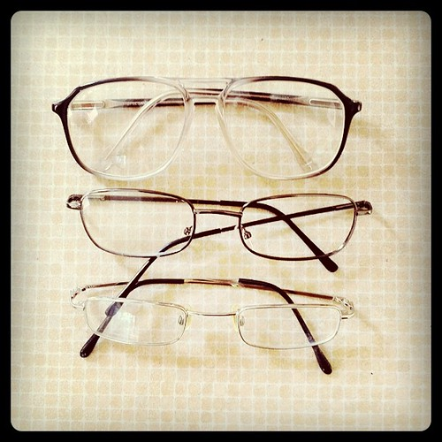 12 Eyes: My dad's glasses over the years.