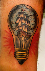 ship in a light bulb