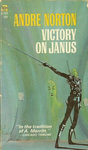 Victory on Janus - Andre Norton - cover artist Michael Gilbert