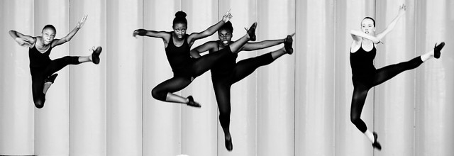dancers in black and white
