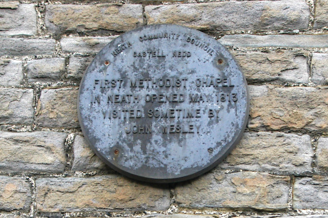 Photo of John Wesley plaque