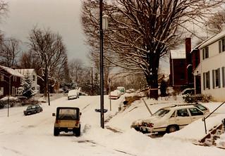Arlington - Snow on Longfellow Street (1988)