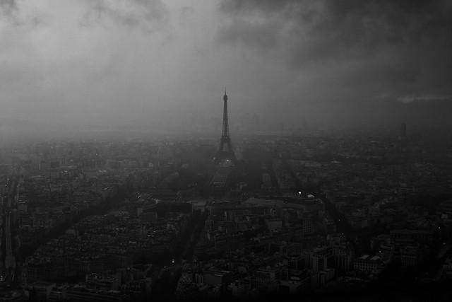 pluie sur la ville