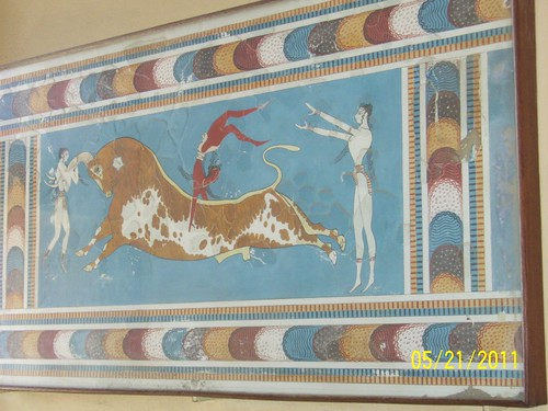 Crete Colours - The Palace of Knossos - The Bull Leaping Game