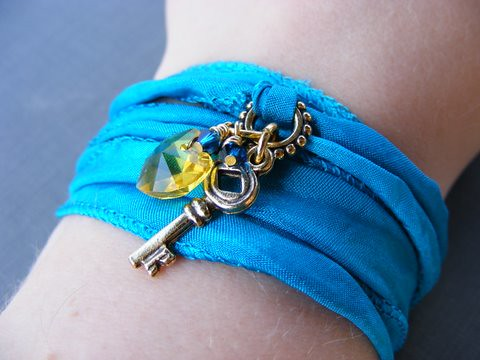Key to My Heart Wrap Bracelet