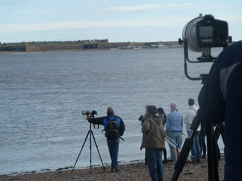 Photographers at Chanonry Point, Moray Firth