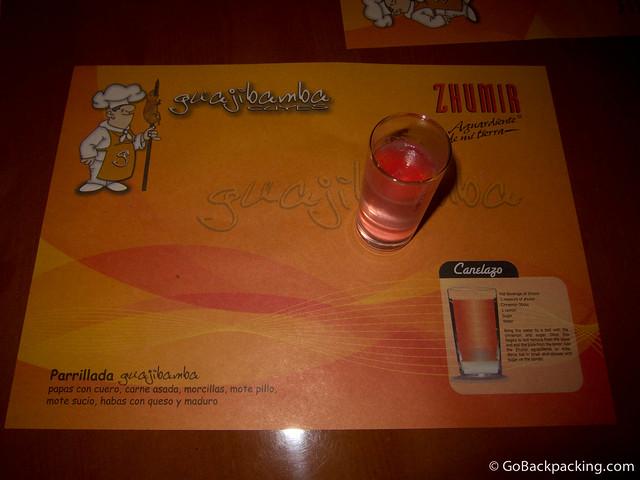 A warm shot of Canelazo