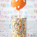 Starry orange cake pop