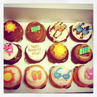 Beach #birthday #cupcakes #beach #summer party