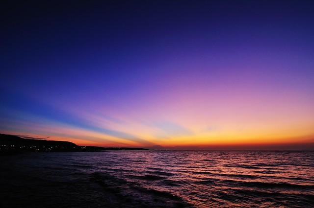 北海岸 夕陽