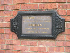 Photo of Charles I grey plaque