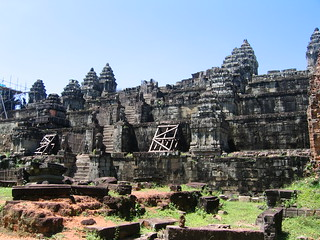 Image of Phnom Bakheng near Siem Reap. cambodia siemreap angkor phnombakheng
