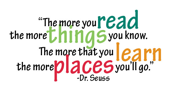 Image result for DR SUESS READING QUOTE