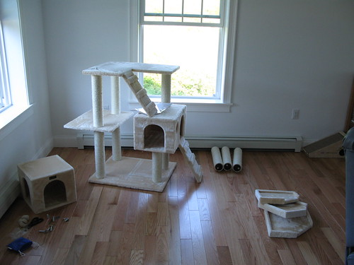 Fluid motion cats their own private condo for Furniture you put together