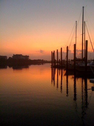 water marina sunrise reflections dawn nc sailboats