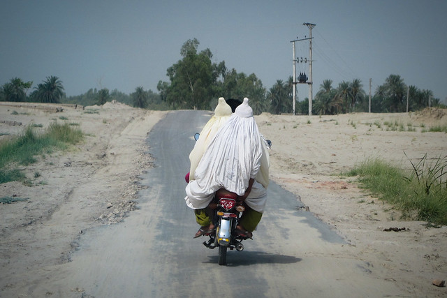 Burqas on a bike
