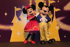 Meeting 5th Anniversary Minnie and Mickey at the Finale Dinner at the Disneyland Hotel at Hong Kong Disneyland