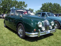 executive car(0.0), jaguar xk140(0.0), sedan(0.0), convertible(0.0), sports car(0.0), automobile(1.0), daimler 250(1.0), jaguar mark 2(1.0), vehicle(1.0), jaguar mark 1(1.0), mitsuoka viewt(1.0), jaguar xk150(1.0), antique car(1.0), classic car(1.0), vintage car(1.0), land vehicle(1.0), luxury vehicle(1.0), jaguar s-type(1.0),