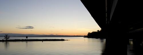 bridge night contrast sunrise tampere
