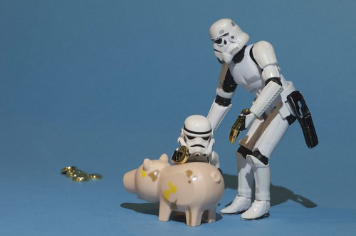 We're saving all our money to make a new Death Star