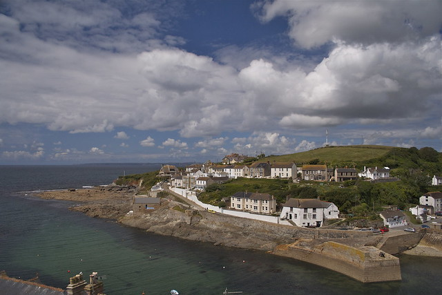 Porthleven Harbor in Cornwall, England