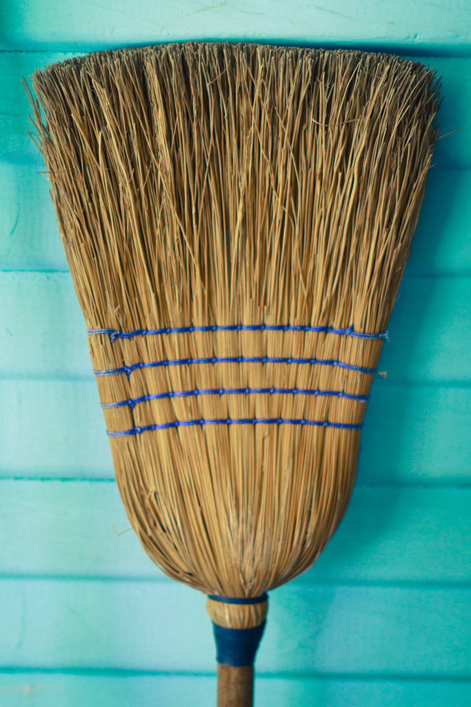 blue broom, bristles // two-hundred & seventeen