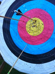 archery, target archery, circle, blue,