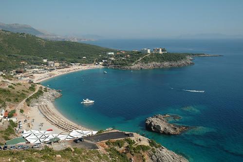 trip travel blue sea summer sky holiday beach europe mediterranean greece albania jal himara llogara