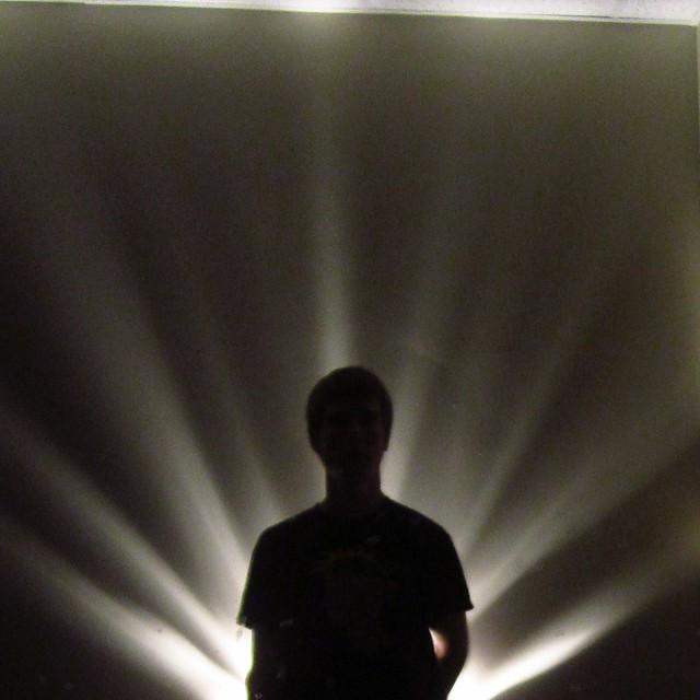 Dark Room With Flash Light