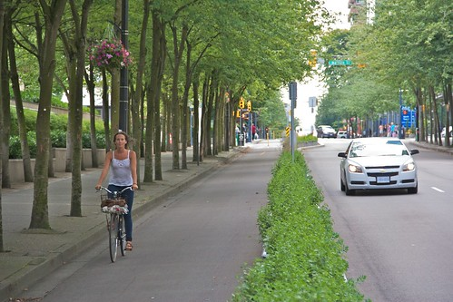 Hornby Separated Bike Lane