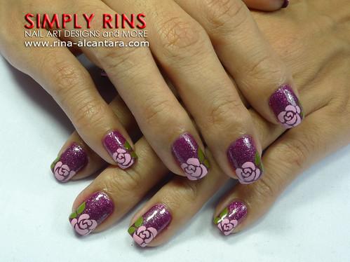 Nail Art Rose Tips 04