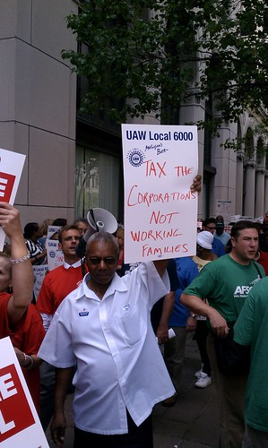 Tax corporations, not working families