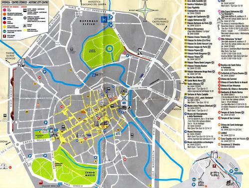 Mapa Ruta de Palladio, en Vicenza