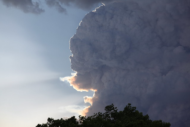 The Las Conchas Fire, the largest wildfire in New Mexico history, threatened the town of Los Alamos and Los Alamos National Laboratory in June/July 2011. Thankfully, the town and LANL were spared.   Photo by Sandra Valdez.
