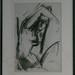 010768 weibl Akt sitzend mit erhobenem Arm