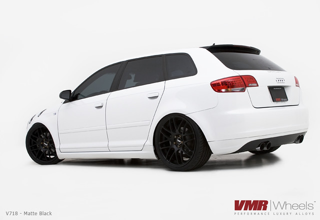 VMR Wheels | V718 Matte Black on Ibis White Audi A3 | Flickr - Photo ...
