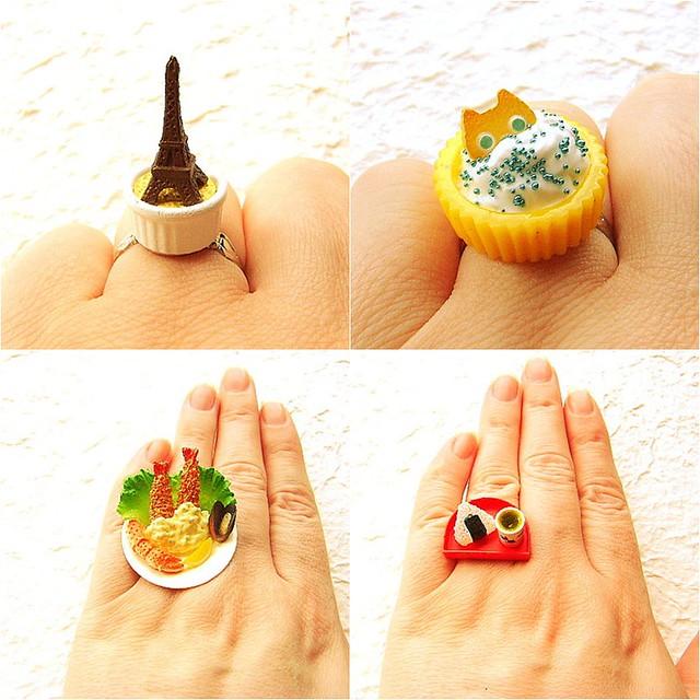 Kawaii Cute Japanese Food Rings By Souzoucreations At Etsy