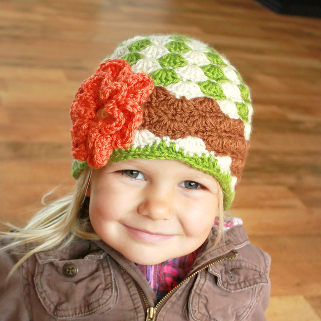 Crochet Hat Patterns Flowers : Angela Hat Crochet Pattern with Flower Flickr - Photo ...