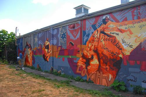 Flickriver photoset 39 philadelphia murals 39 by lesmarcyd for Dr j mural philadelphia