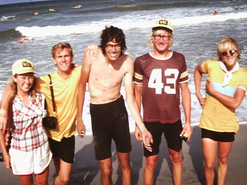 A giddy group arrives at the Atlantic August 1976