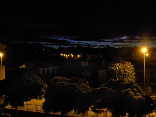 night dawn lights streetlights lamplights