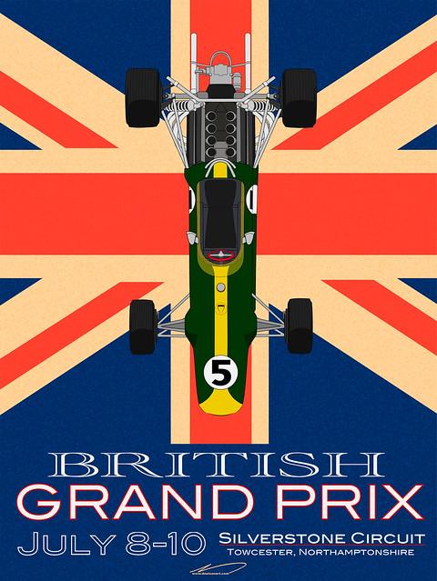 Grand Prix Auto Dijon Werbeposter, Automobil und