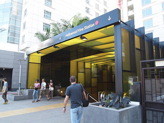 Los Angeles Metro Subway (Red Line) Entrance, Hollywood & Vine Station