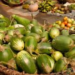 Basket of Aubergines (Eggplant) at Market - Bandarban, Bangladesh