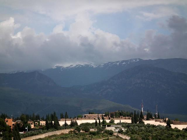 Granada Sierra Nevada desde la Alhambra 3