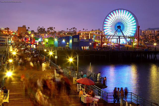 Santa Monica - Evening at the pier