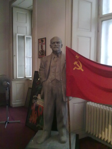 Vladimir Lenin inside the Museum of Communism